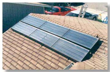 2 Panels on Shake Roof